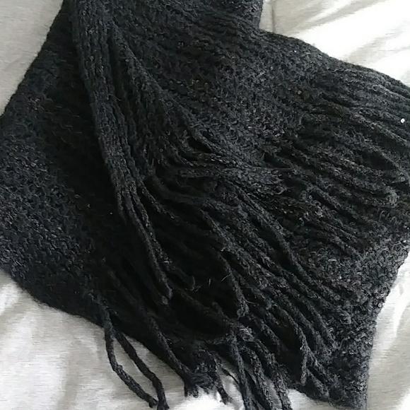 Cejon Accessories - Black sequined scarf